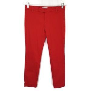 Gap red slim cropped ankle pants